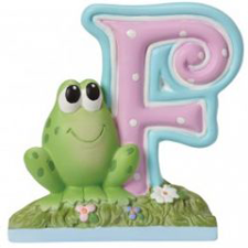 Precious Moments Letter F, F is for Frog Hallmark Awesome Gifts