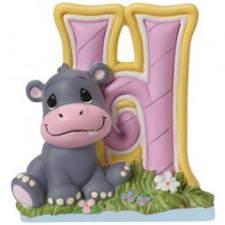 Precious Moments Letter H, H is for Hippo Hallmark Awesome Gifts