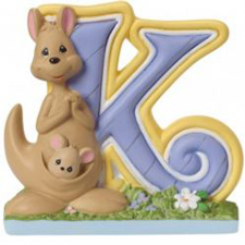 Precious Moments Letter K, K is for Kangaroo Hallmark Awesome Gifts