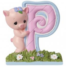 Precious Moments Letter P, P is for Pig, Hallmark Awesome Gifts