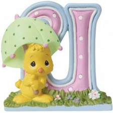 Precious Moments Letter U, U is for Umbrella, Hallmark Awesome Gifts