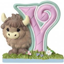 Precious Moments Letter Y, Y is for Yak, Hallmark Awesome Gifts