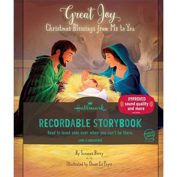 Great Joy: Christmas Blessings from Me to You Recordable Storybook | Hallmark Awesome Gifts