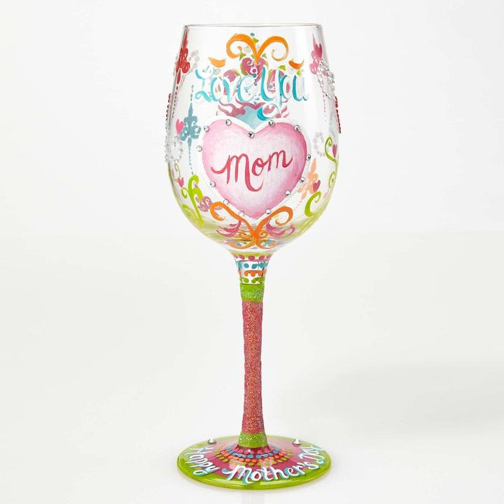 Lolita Wine Glasses - Family - I Love You Mom | Hallmark Awesome Gifts