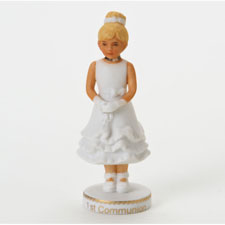 Growing up girls, blonde, first communion, Hallmark Awesome Gifts