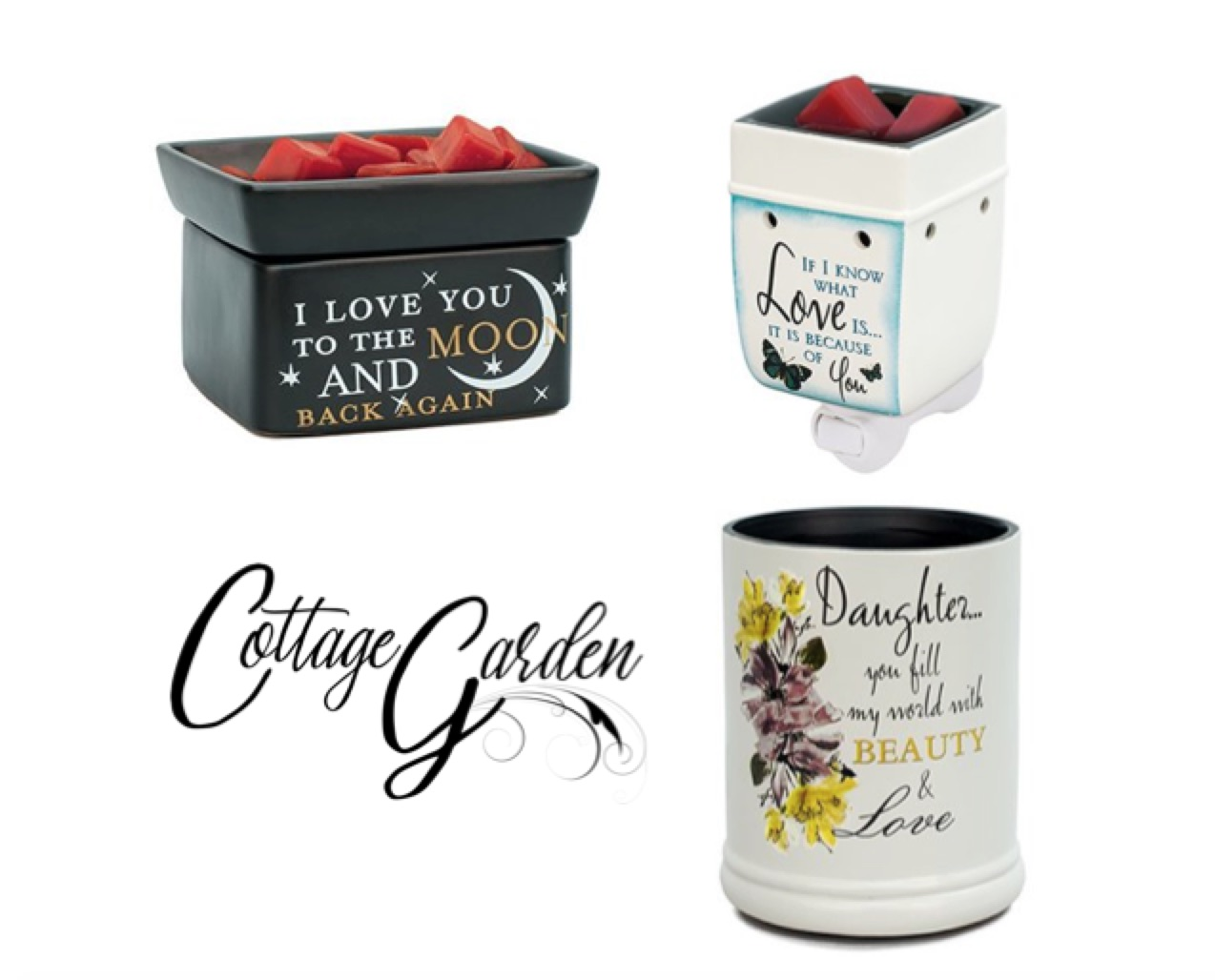 Cottage Garden Candle Warmers, Hallmark Awesome Gifts