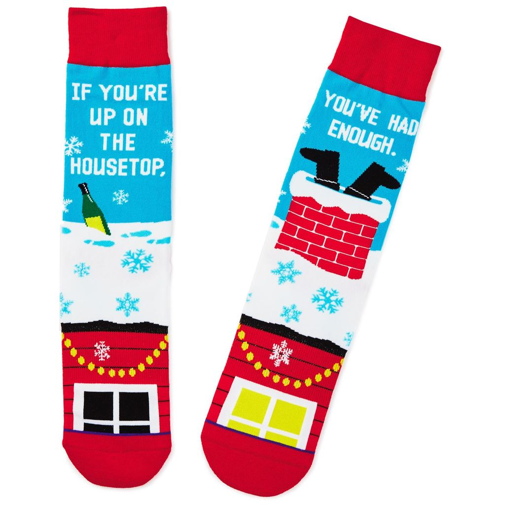 Drunk Santa Toe of a Kind Funny Christmas Socks Hallmark Awesome Gifts