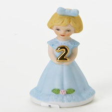 Growing up girls, blonde, age 2, Hallmark Awesome Gifts