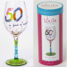 Lolita Wine Glasses - Birthday - 50 is Just a Number | Hallmark Awesome Gifts