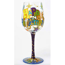 Lolita Wine Glasses - Celebration - Happy Retirement | Hallmark Awesome Gifts