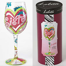 Lolita Wine Glasses - Family - Sister My BFF | Hallmark Awesome Gifts