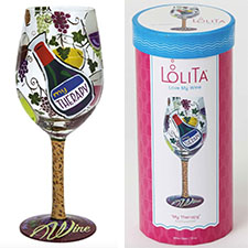 Lolita Wine Glasses - Funny - My Therapy | Hallmark Awesome Gifts