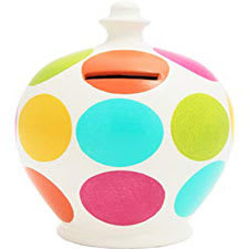 Terramundi Money Pot - Creative - Polka Dot - Rainbow | Hallmark Awesome Gifts
