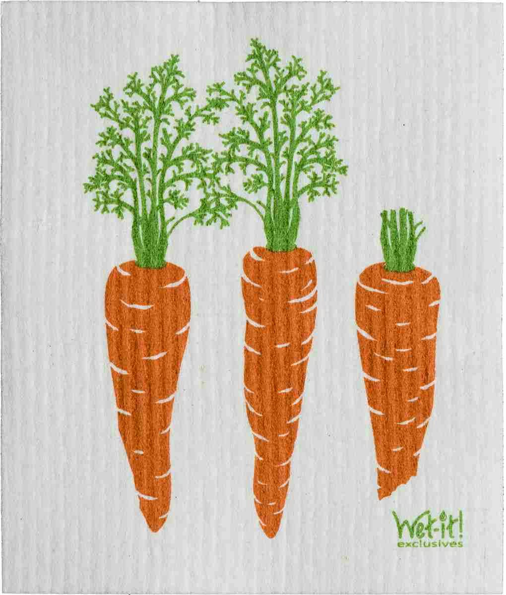 Swedish Dishcloth - Carrot By Row | Hallmark Awesome Gifts