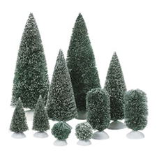 Bag-O-Frosted Topiaries, Dickens' Village | Hallmark Awesome Gifts