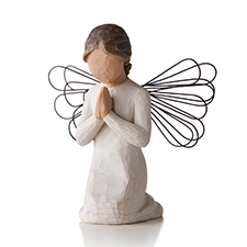 Willow Angel Figurine - Sympathy/Remembrance - Angel of Prayer | Hallmark Awesome Gifts