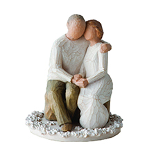 Willow Angel Figurine - Love/Milestones - Anniversary Cake Topper | Hallmark Awesome Gifts