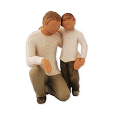 Willow Angel Figurine - Family - Father & Son | Hallmark Awesome Gifts