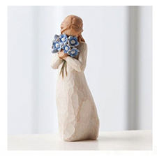 Willow Angel Figurine - Sympathy/Remembrance - Forget-Me-Not | Hallmark Awesome Gifts