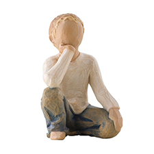 Willow Angel Figurine - Family - Inquisitive Child | Hallmark Awesome Gifts