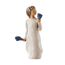 Willow Angel Figurine - Hope/Healing - Lavender Grace | Hallmark Awesome Gifts