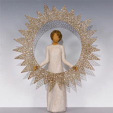 Willow Angel Figurine - Holiday - Starlight Tree Topper | Hallmark Awesome Gifts