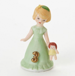 Growing up girls, blonde, age 3, Hallmark Awesome Gifts