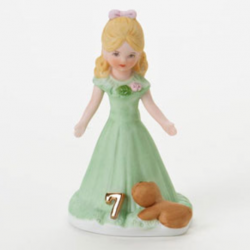 Growing up girls, blonde, age 7, Hallmark Awesome Gifts