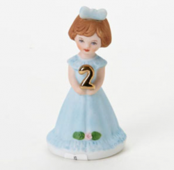 Growing up girls, brunette, age 2, Hallmark Awesome Gifts