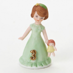 Growing up girls, brunette, age 3, Hallmark Awesome Gifts