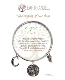 Earth Angel Bracelet - Initial - C | Hallmark Awesome Gifts