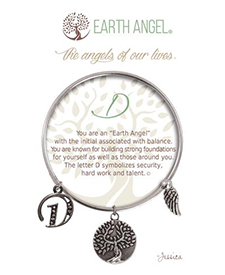 Earth Angel Bracelet - Initial - D | Hallmark Awesome Gifts