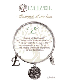 Earth Angel Bracelet - Initial - E | Hallmark Awesome Gifts