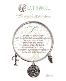 Earth Angel Bracelet - Initial - F | Hallmark Awesome Gifts