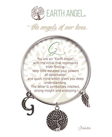 Earth Angel Bracelet - Initial - G | Hallmark Awesome Gifts