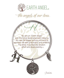 Earth Angel Bracelet - Initial - H | Hallmark Awesome Gifts
