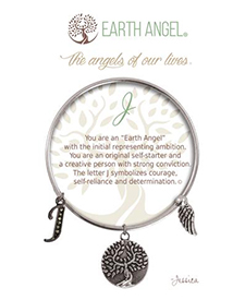 Earth Angel Bracelet - Initial - J | Hallmark Awesome Gifts