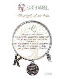 Earth Angel Bracelet - Initial - K | Hallmark Awesome Gifts