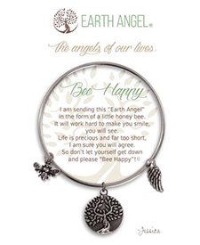 Earth Angel Bracelet - Sentiment - Bee Happy | Hallmark Awesome Gifts