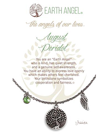 Earth Angel Necklaces - Birth Month/Stone - August | Hallmark Awesome Gifts
