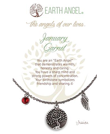 Earth Angel Necklaces - Birth Month/Stone - January | Hallmark Awesome Gifts