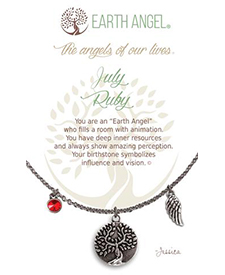Earth Angel Necklaces - Birth Month/Stone - July | Hallmark Awesome Gifts
