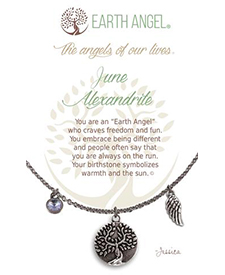 Earth Angel Necklaces - Birth Month/Stone - June | Hallmark Awesome Gifts