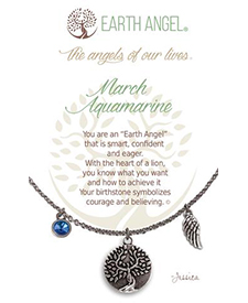 Earth Angel Necklaces - Birth Month/Stone - March | Hallmark Awesome Gifts