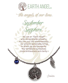 Earth Angel Necklaces - Birth Month/Stone - September | Hallmark Awesome Gifts