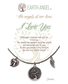 Earth Angel Necklace - Sentiment - I Love You | Hallmark Awesome Gifts