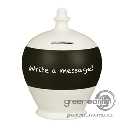 Terramundi Money Pot - Blackboard - White | Hallmark Awesome Gifts