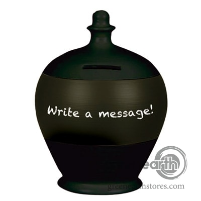Terramundi Money Pot - Blackboard - Black | Hallmark Awesome Gifts