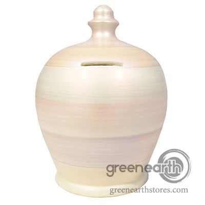 Terramundi Money Pot -Metallic - White with stripes | Hallmark Awesome Gifts