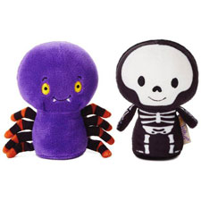 Hallmarkitty bittys® Spider and Skeleton Stuffed Animal Set of 2 | Hallmark Awesome Gifts